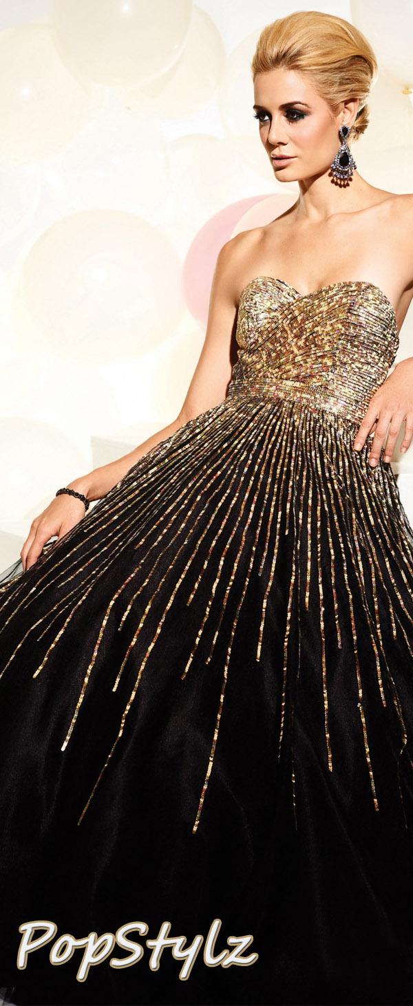 Terani Couture 95220P Elegant Black Dress