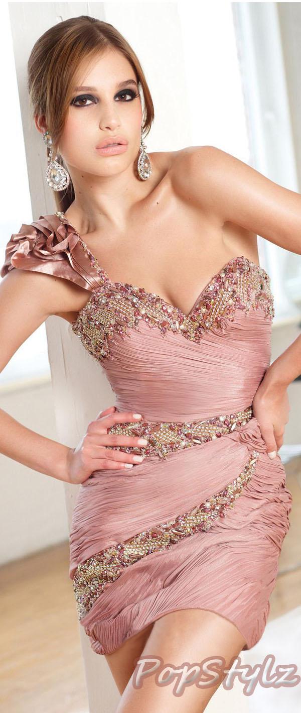 Terani Couture Blush Short Dress 11088C