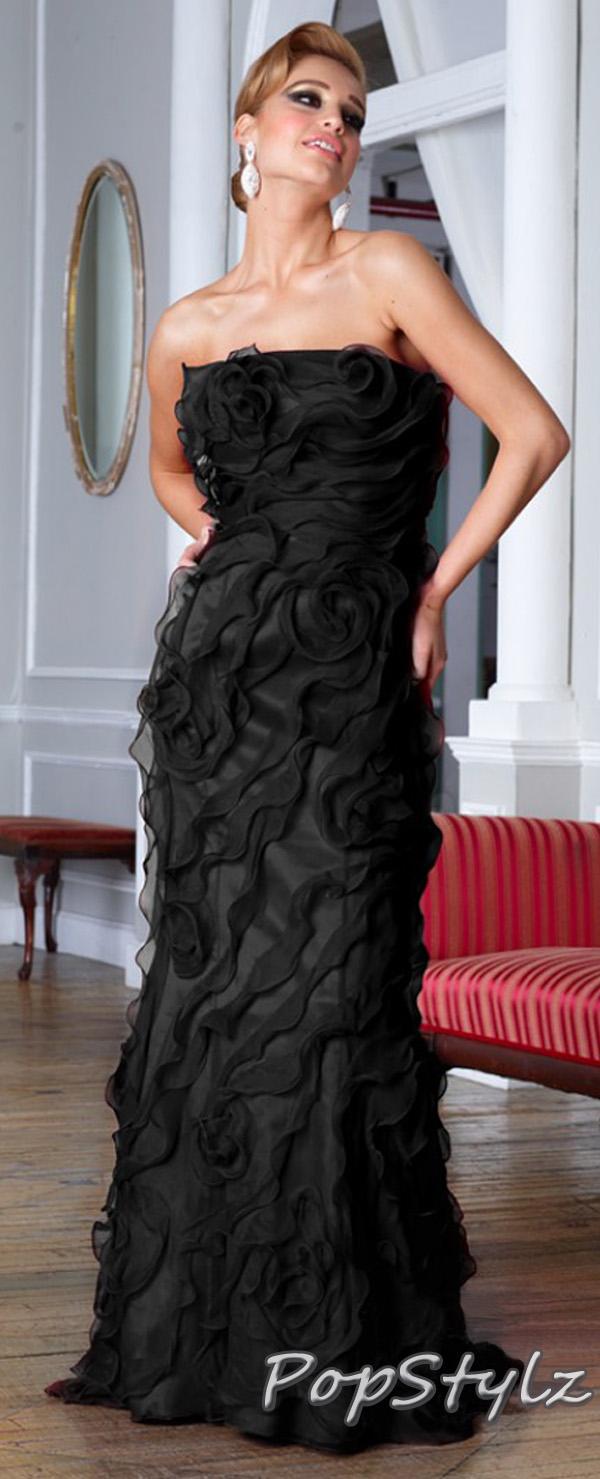 Terani Couture Black Dress e1349