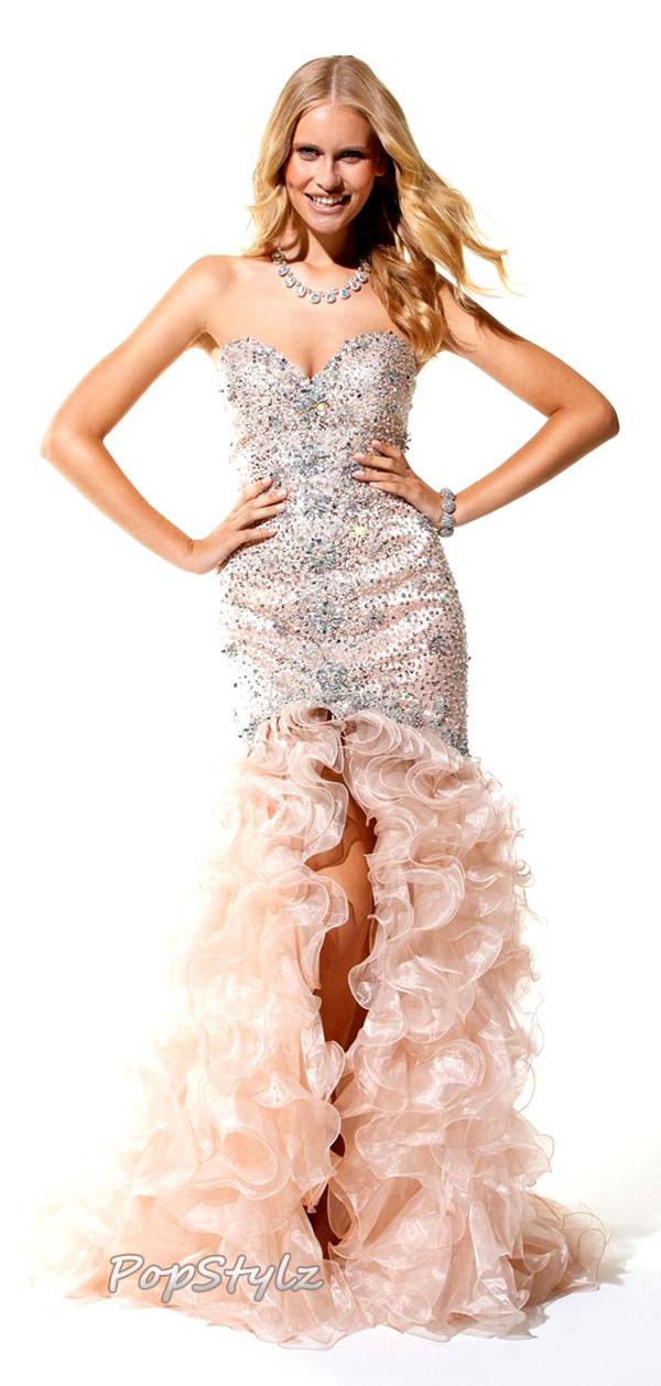 Elegant Terani Couture 1576 Nude Gown