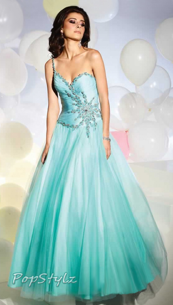 Terani Couture P156 Tiffany Color Gown