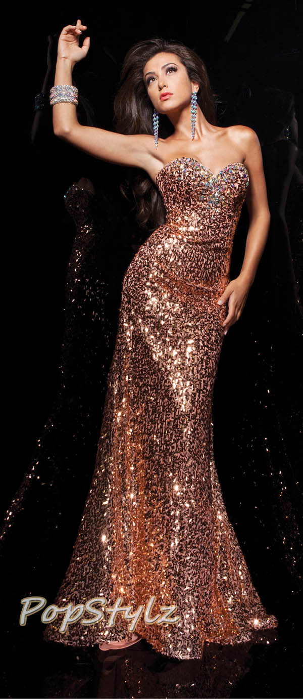 Tony Bowls 113702 Sequin Prom Dress