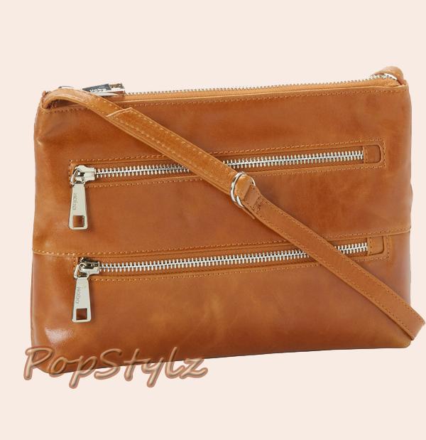 HOBO Mara VI Caramel Cross Body Leather Handbag