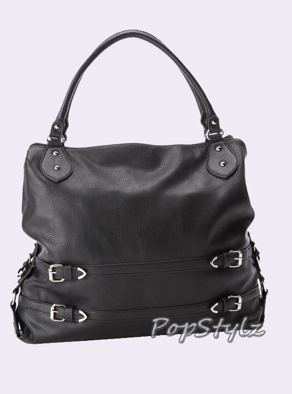 Jessica Simpson Wilshire JS5501 Black Tote Handbag