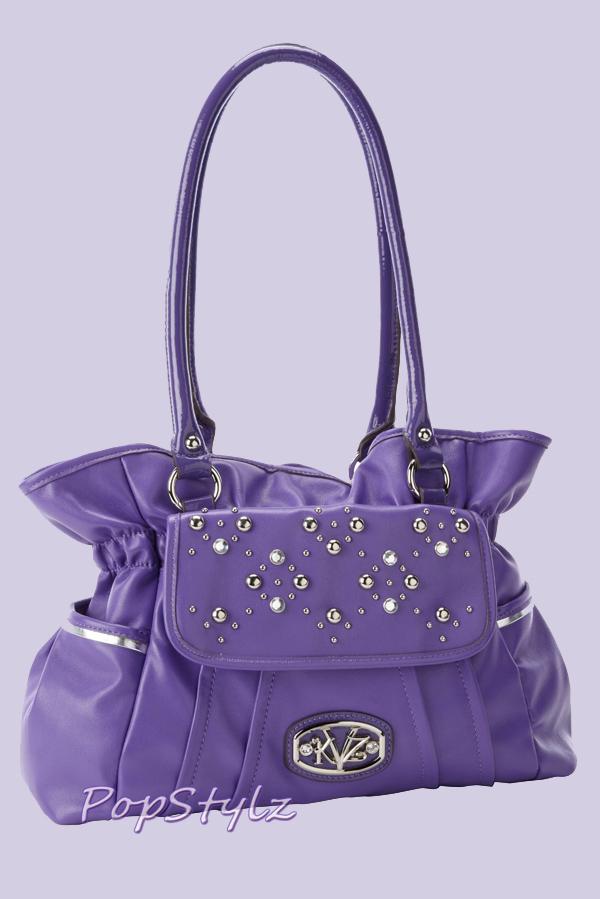 KATHY Van Zeeland Decadent Disco Grape Purple Shoulder Bag