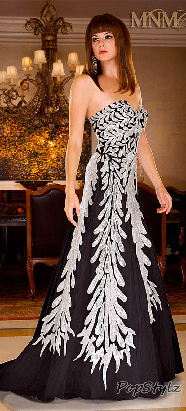 MNM Black & Silver Couture 6435 Couture Dress
