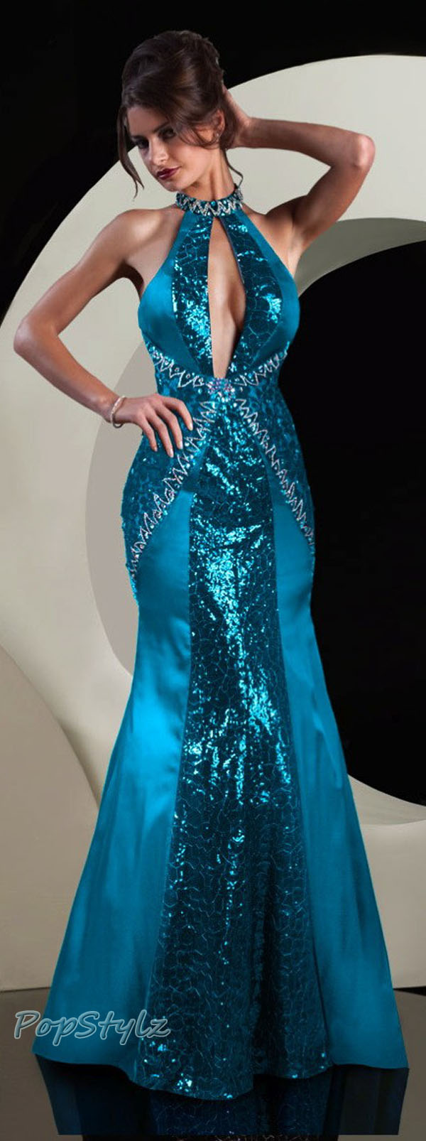 MNM Blue Couture 5746 Dress