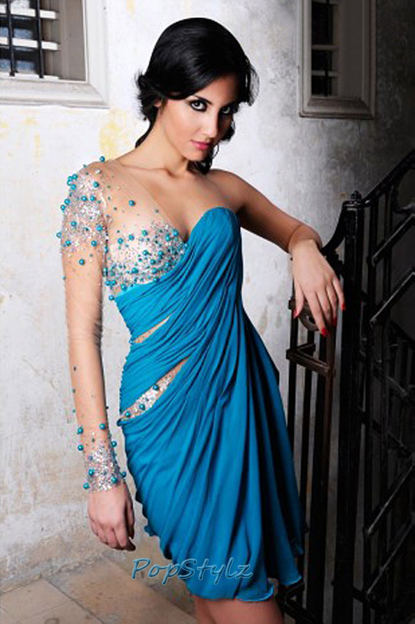 MNM Blue Couture 9012 Dress
