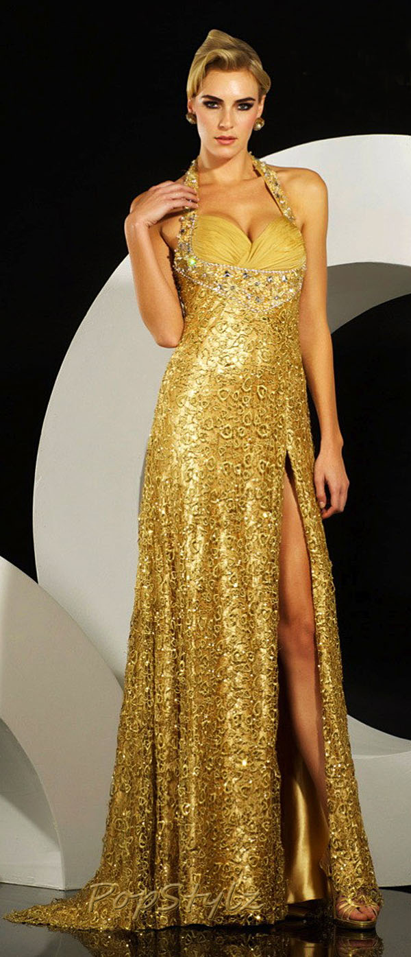 MNM Gold Couture 6514 Dress