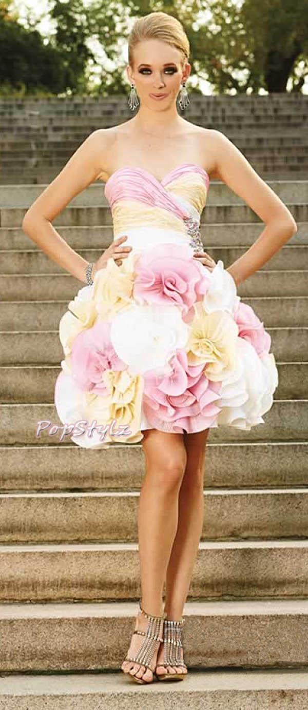 Terani 679 Short Pink Prom Dress