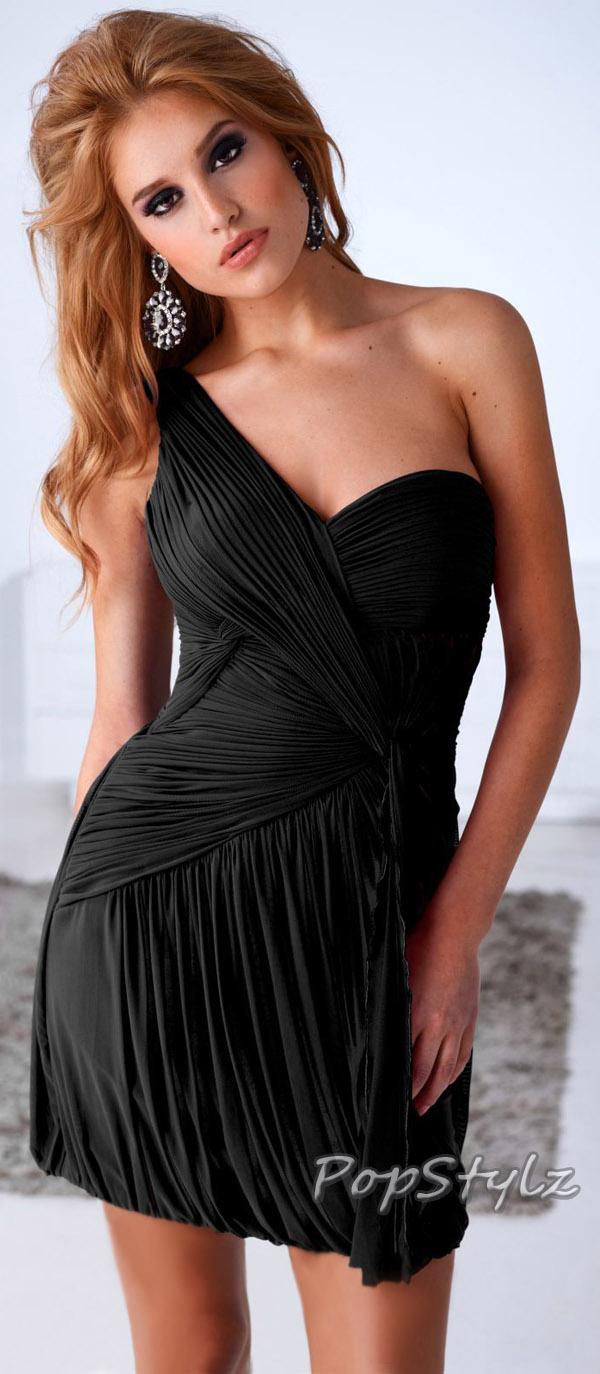 Terani Couture h1217 Black Cocktail Dress