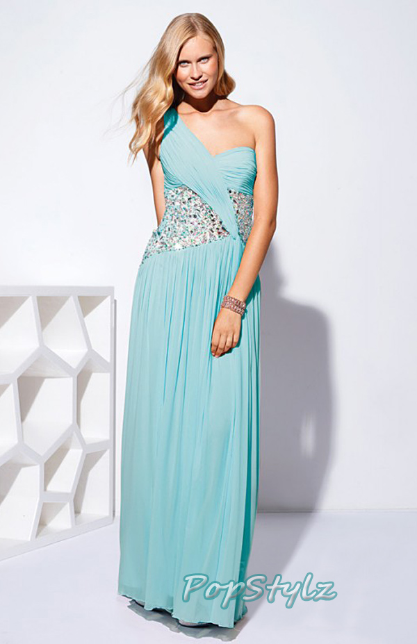 Terani P1502 Tiffany Blue Embellished Formal Gown