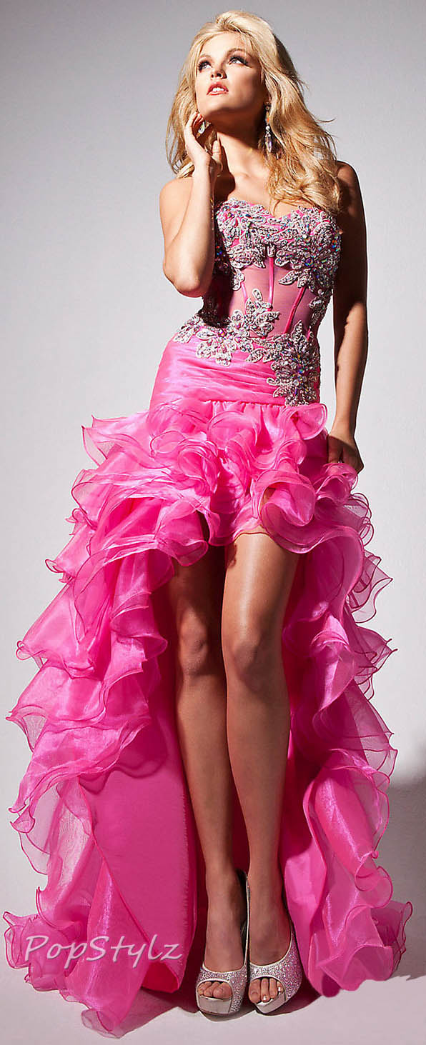 Tony Bowls Hot Pink Le Gala Spring 2013 Gown- TB113500