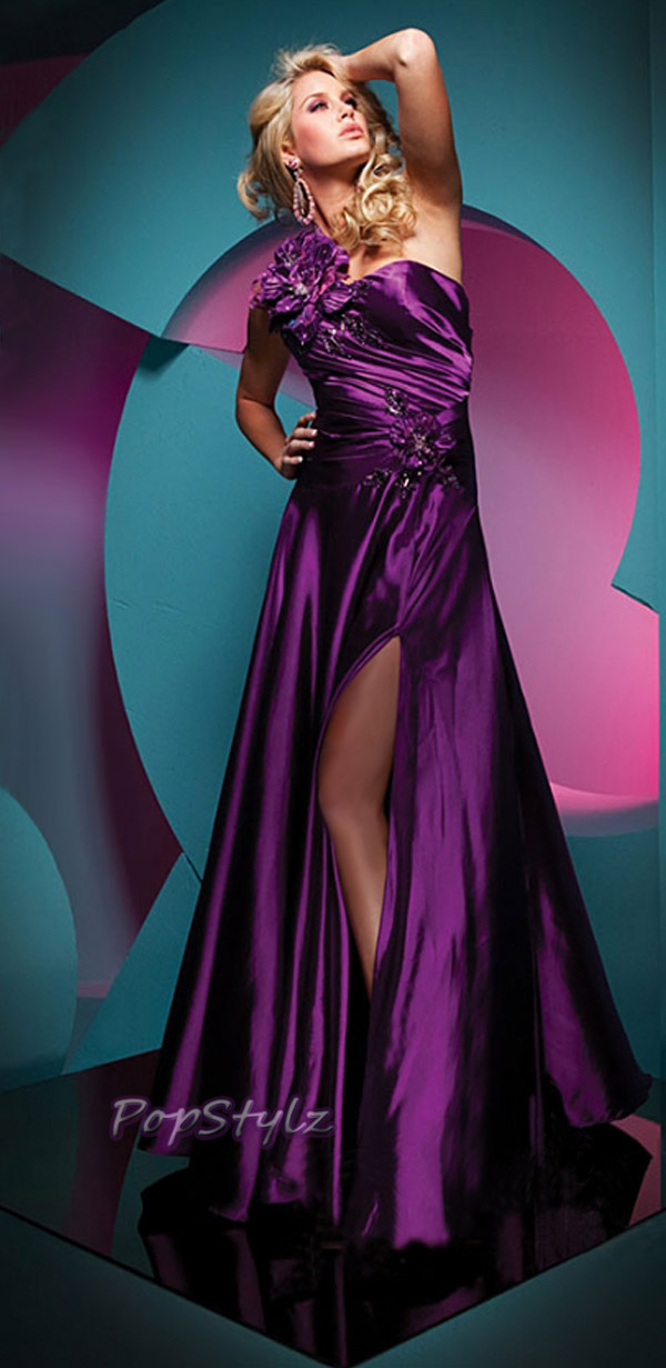 Tony Bowls 111713 Purple Floor Length Evening Dress