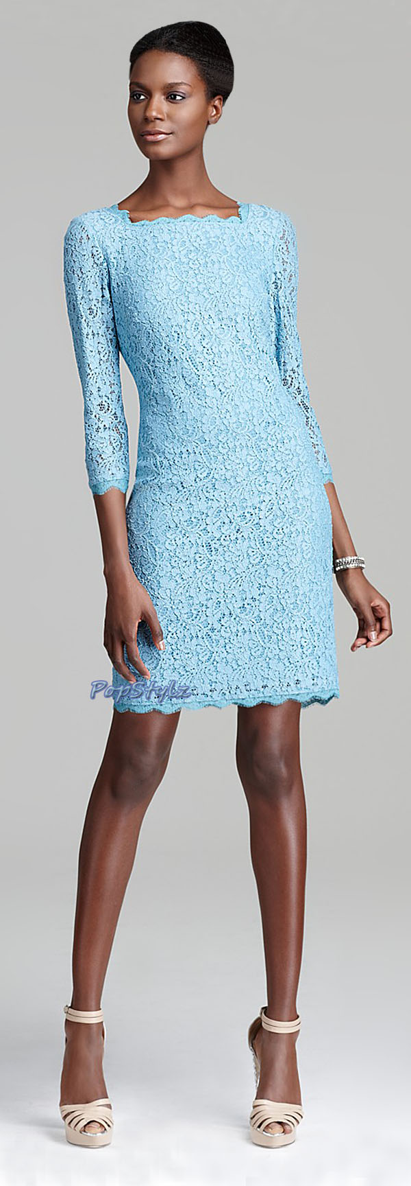 Adrianna Papell Turquoise Dress