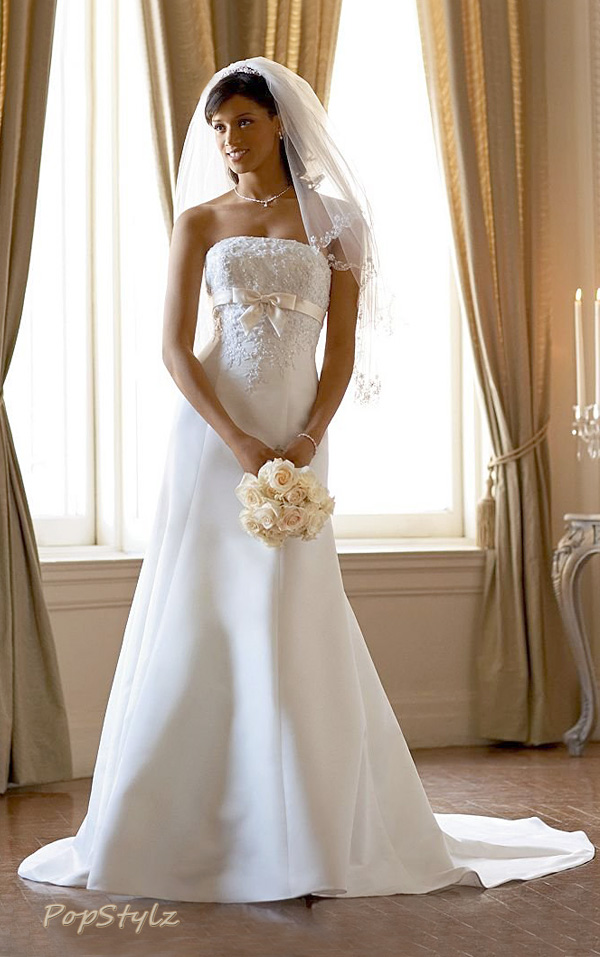 David's Bridal Gown - Satin Trumpet Style