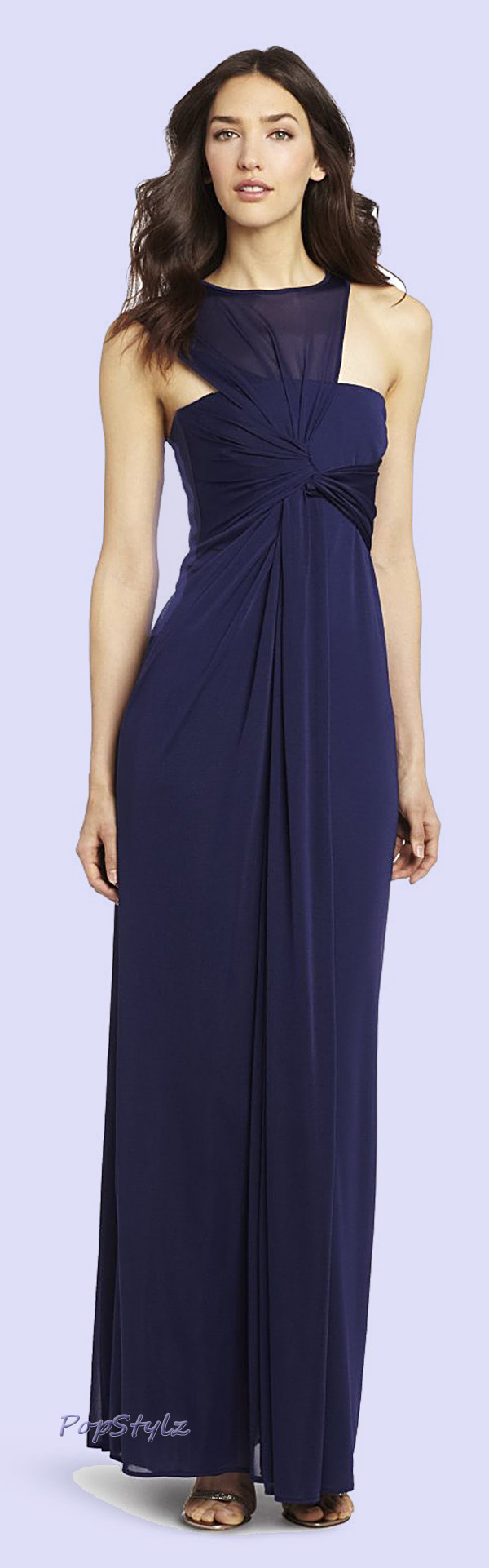 Halston Heritage Side Draped Dress