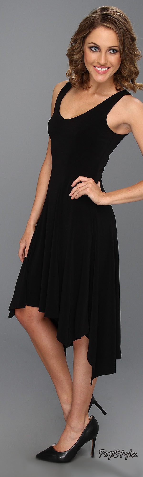 Karen Kane Asymmetrical V-Neck Dress