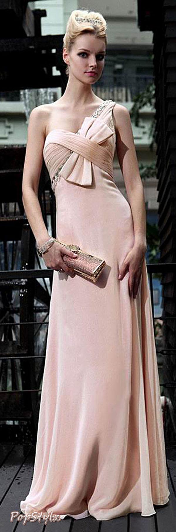 Zuhair Murad Womens One Shoulder Dress