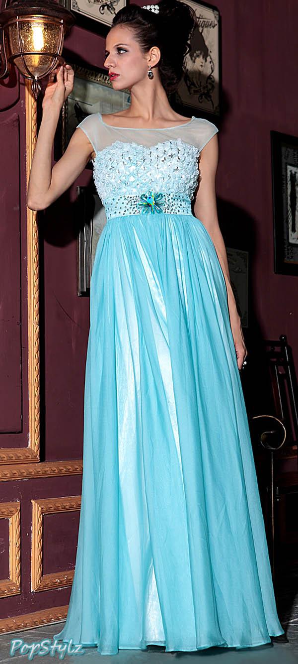 Zuhair Murad Tencel Chiffon Lace Dress