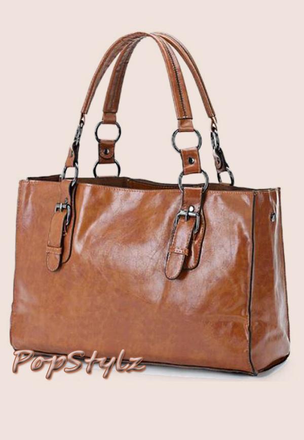 MG Collection Satchel Handbag