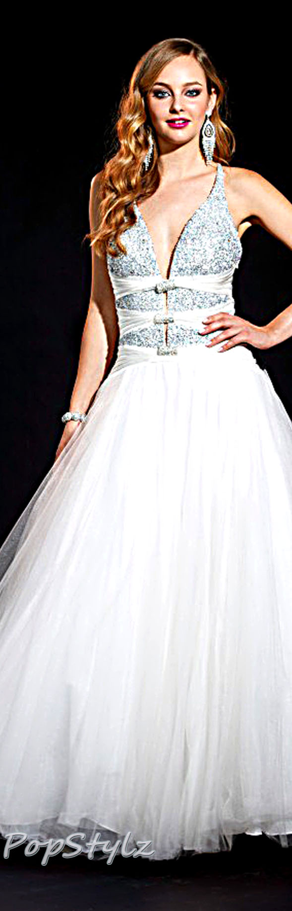 Terani Couture P730 Ivory Gown