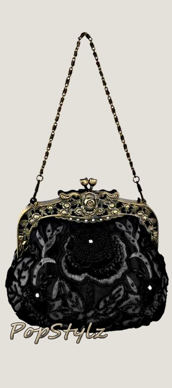 MG Collection Antique Rose Handbag