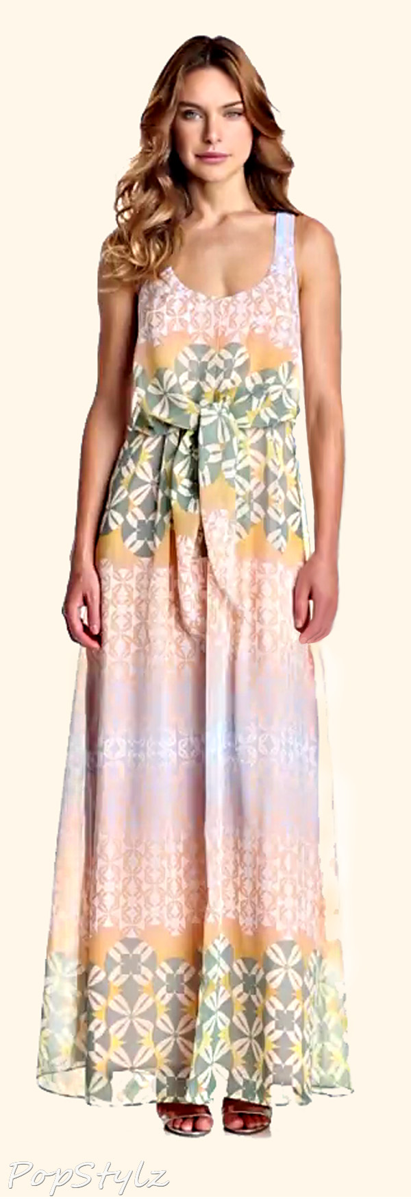 Jessica Simpson Printed Maxi Dress