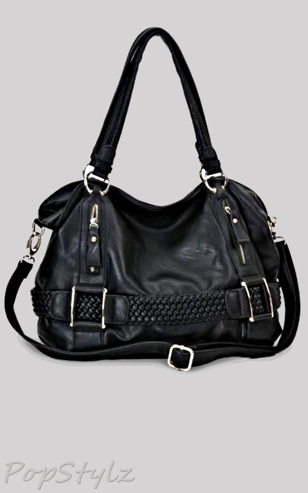 MG Collection Soft Hobo Shoulder Handbag