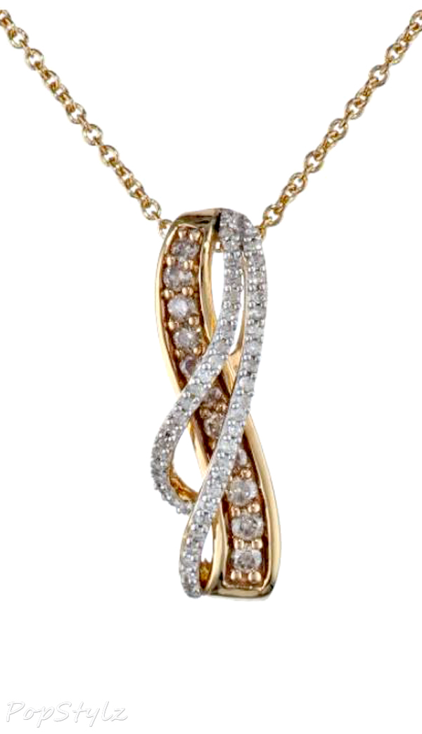 Diamond Twist Pendant Necklace