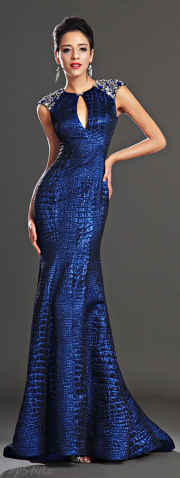 eDressit 02130905 Sapphire Blue Evening Dress
