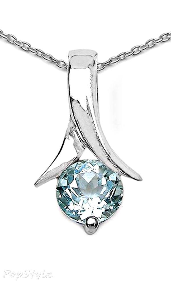 Genuine Blue Topaz Necklace