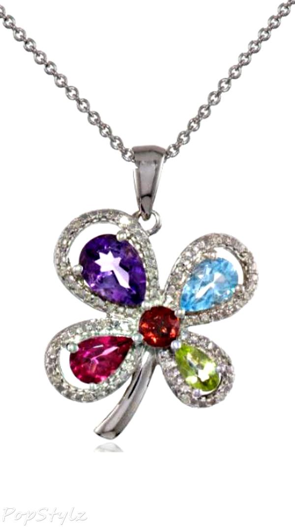 Multi Gemstone Diamond Necklace