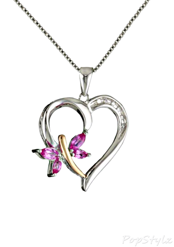 Gold And Diamond Heart Pendant Necklace