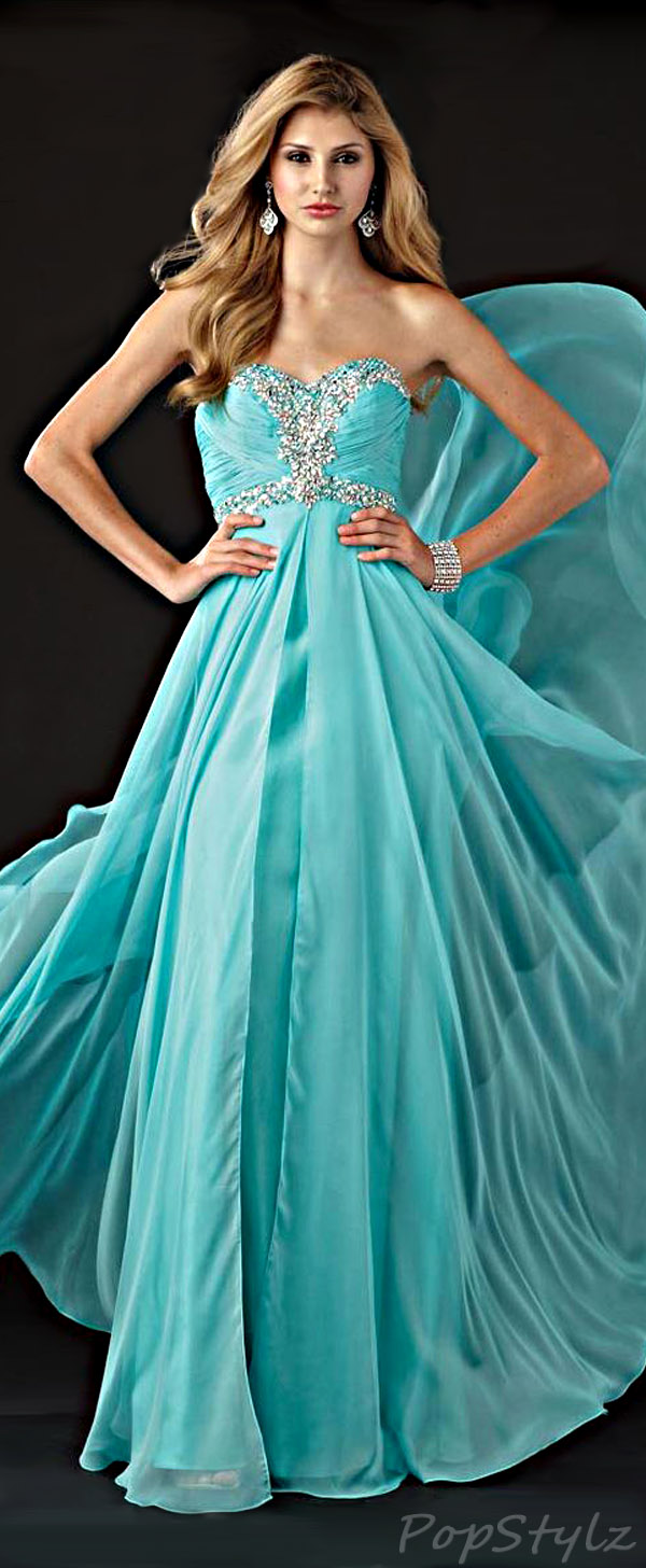 Alyce Designs 6925 Flowing Evening Gown