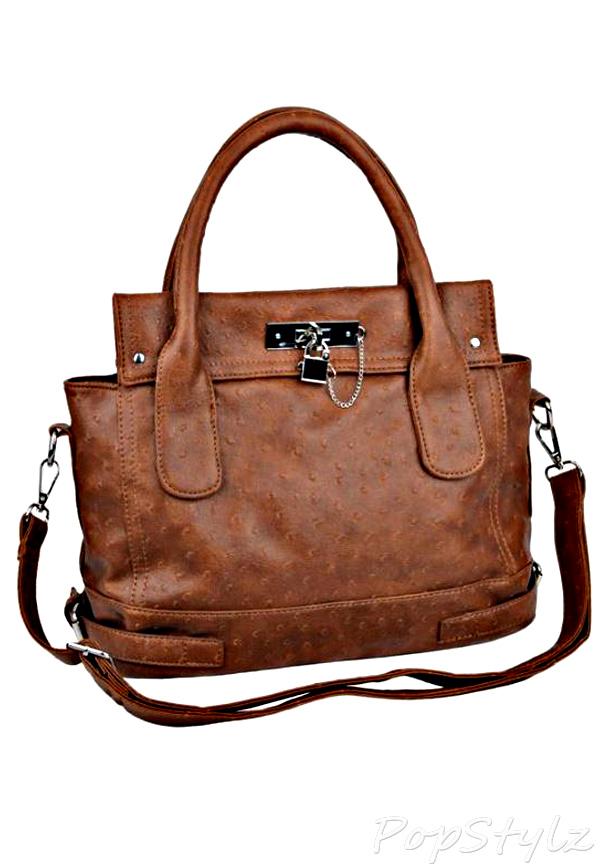 MG Collection Chione Padlock Handbag