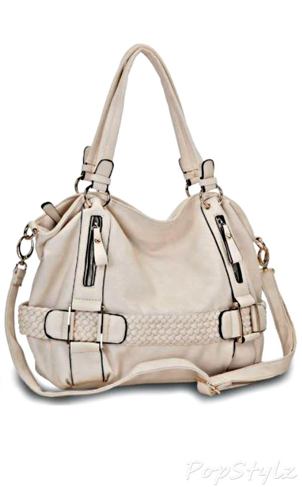 MG Collection Weave Pattern Handbag