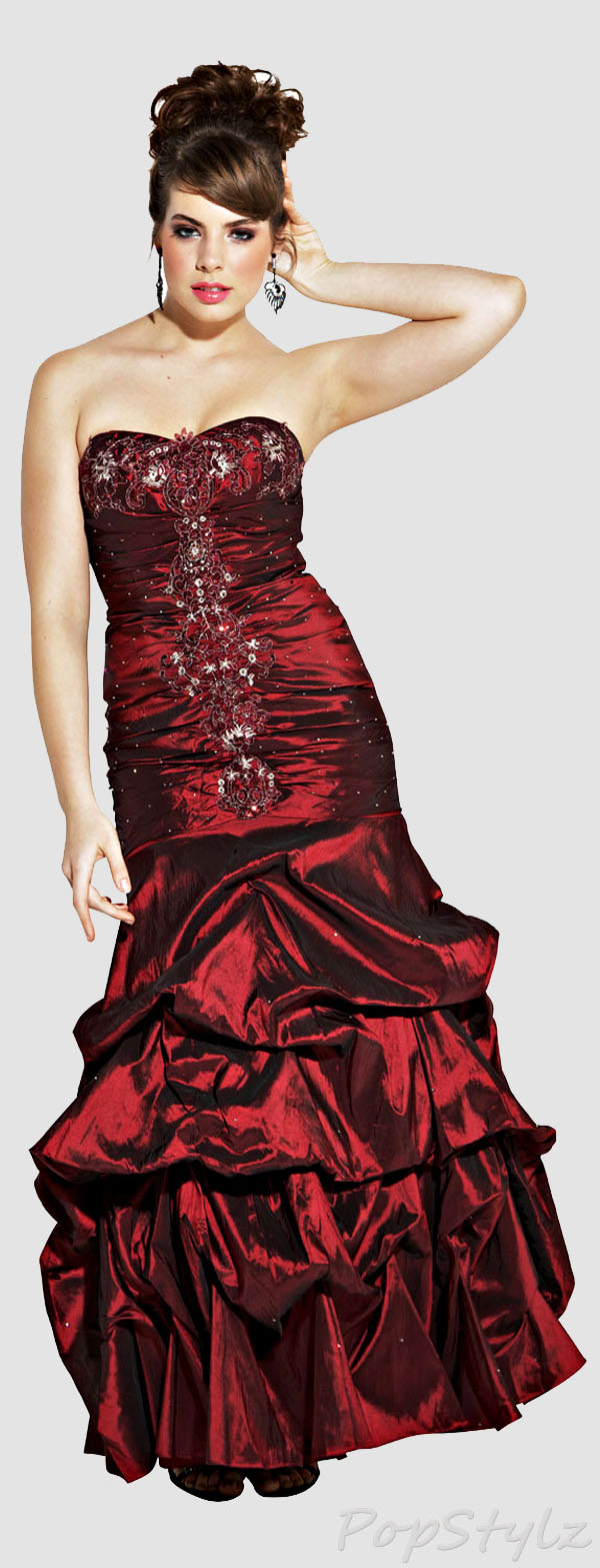 PacificPlex Beaded Embroidered Taffeta Gown