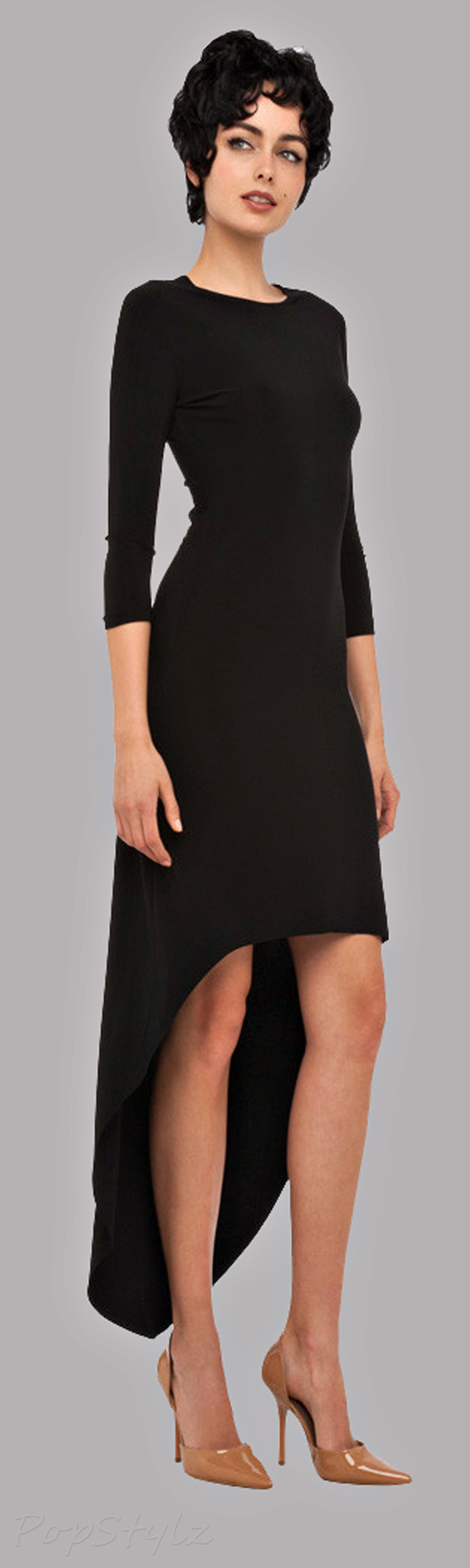 KAMALIKULTURE Crew Neck High Low Dress
