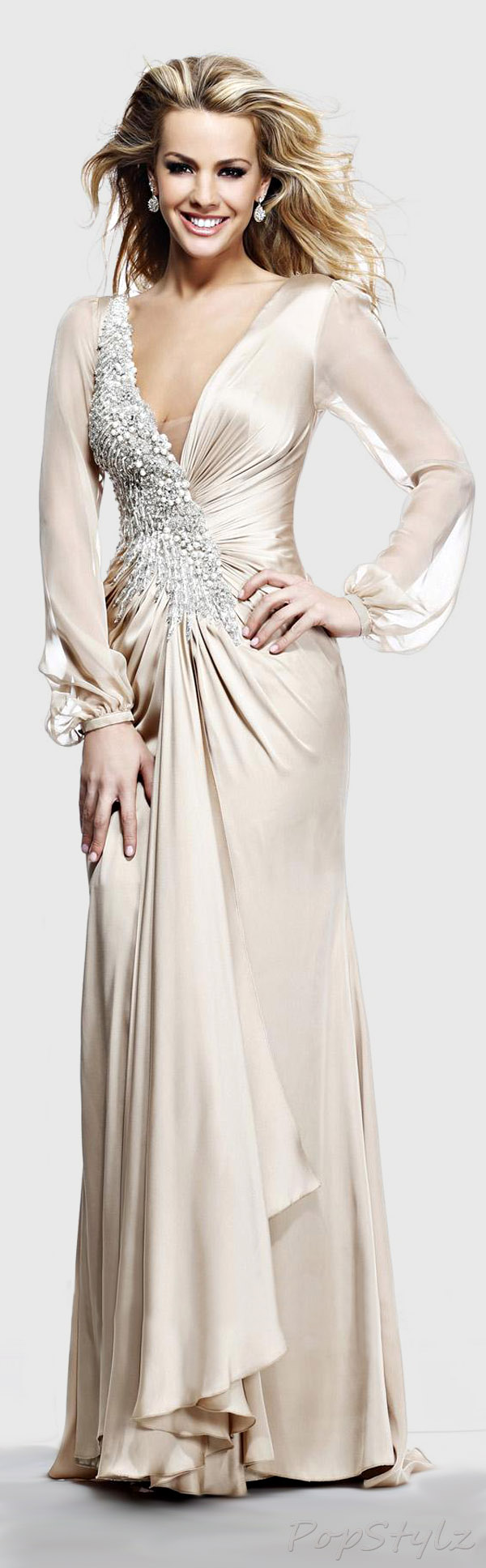 Tarik Ediz 92225 Evening 2014 Gown