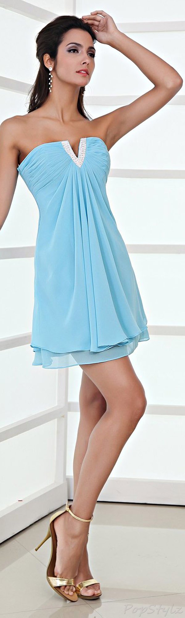 Honeystore Chiffon Short Dress
