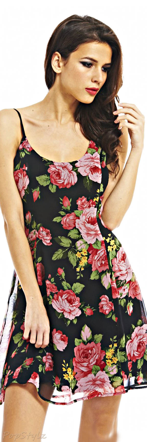 AX Paris Strappy Floral Skater Dress