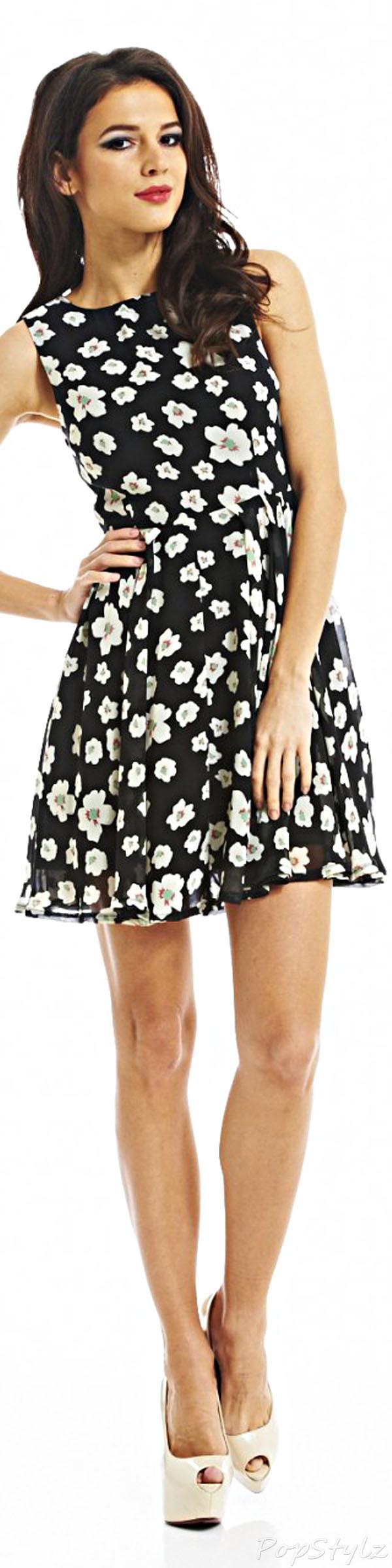 AX Paris Chiffon Floral Skater Dress