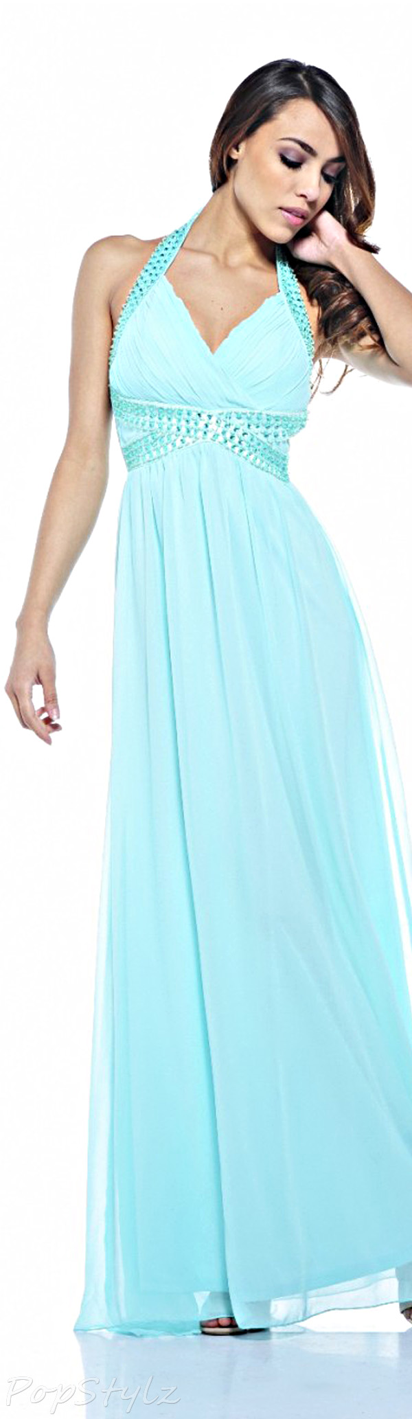 AX Paris Jewel Halter Neck Maxi Dress