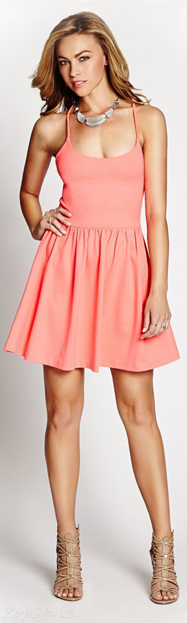 Guess Monaco Sleeveless Fit-and-Flare Dress