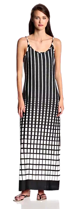 MSK Sleeveless Maxi Dot Dress