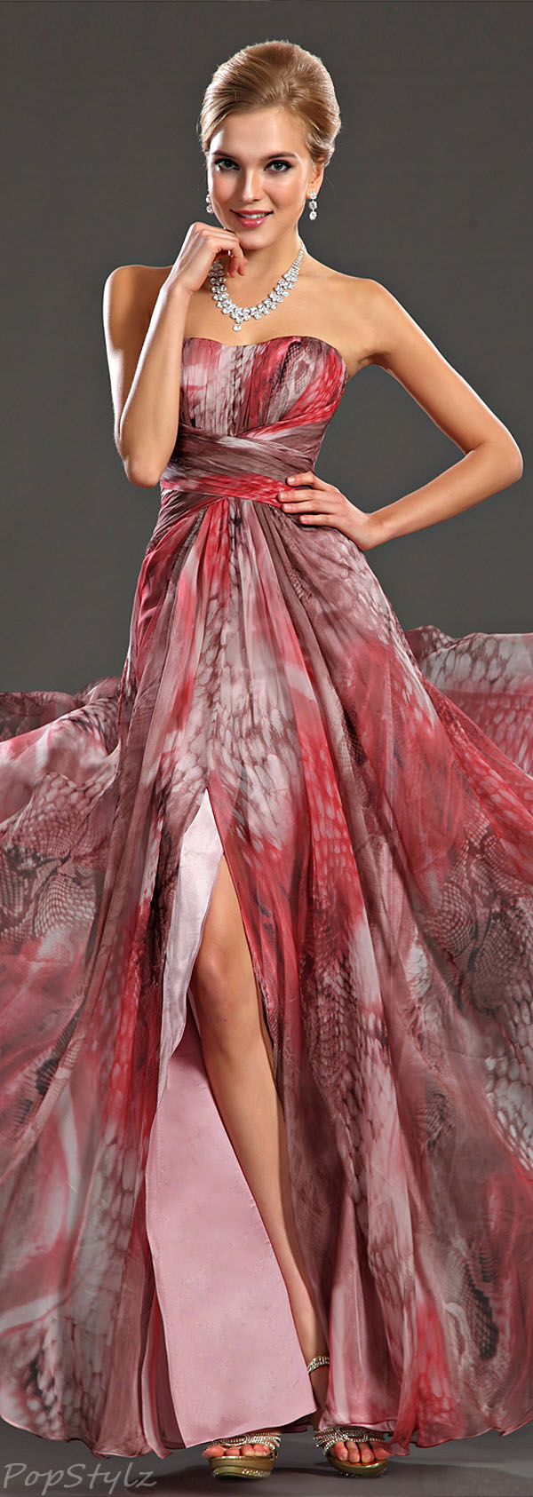 eDressit Printed Evening Gown