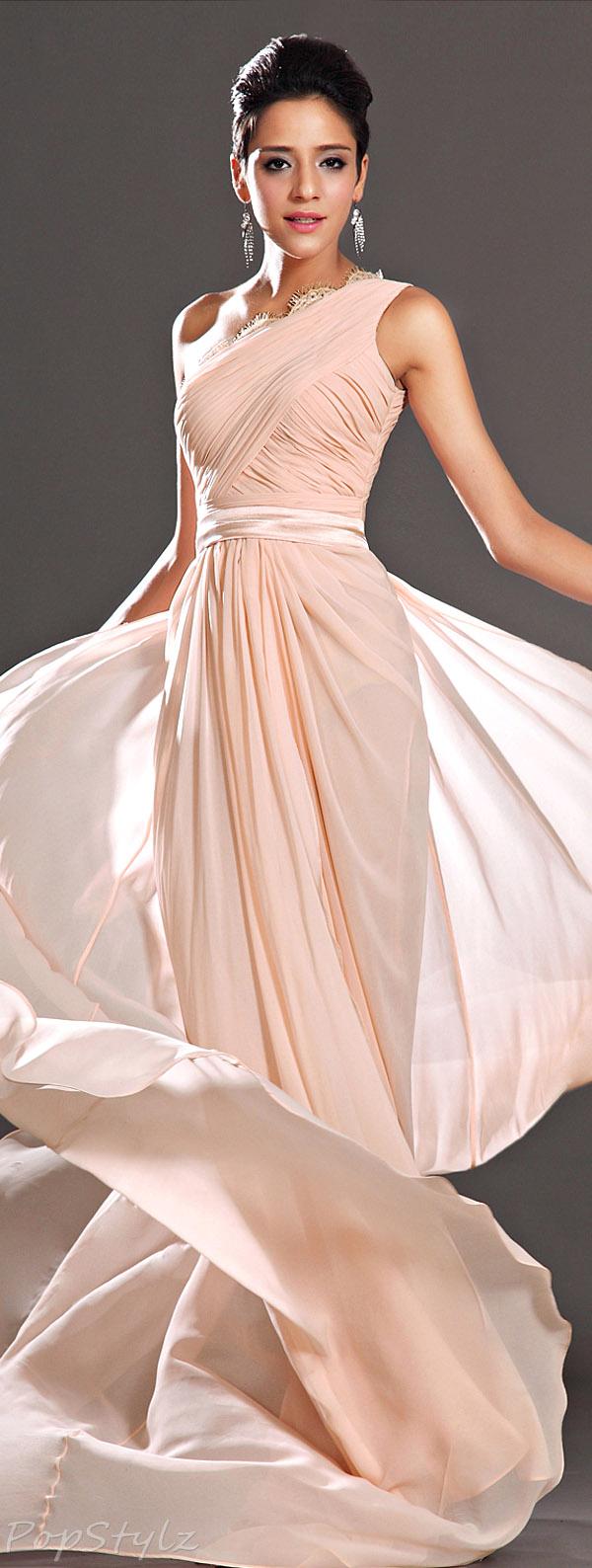 eDressit One-Shoulder Evening Gown