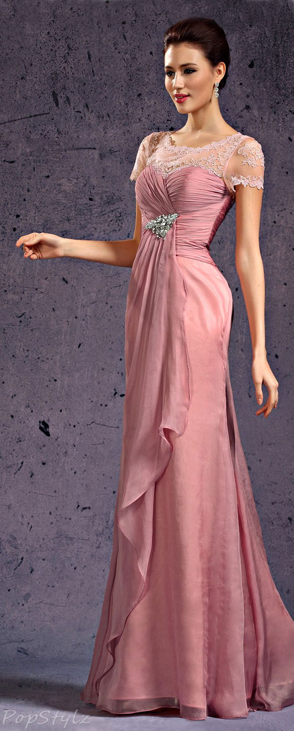eDressit Lace Top Evening Gown