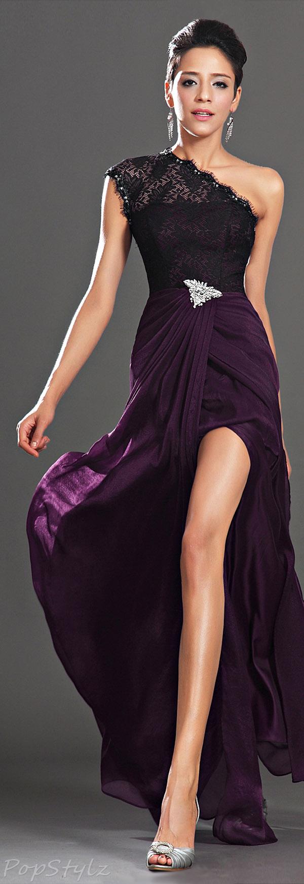 eDressit Lace Shoulder Evening Gown
